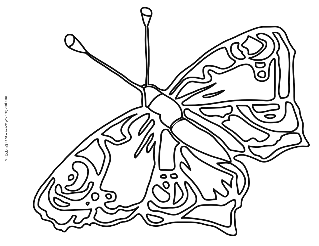 Butterfly my coloring land for Butterfly coloring pages