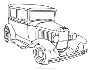 classic car coloring pages print