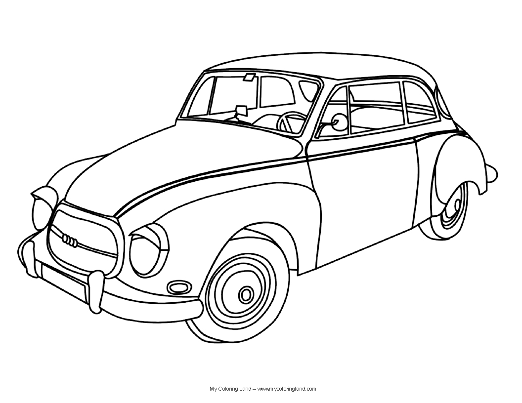 coloring pages antique cars | Cars - My Coloring Land