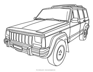 free jeep coloring pages