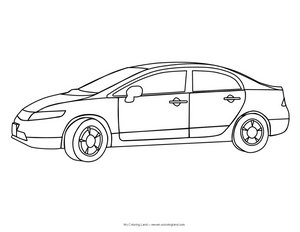free sports car colouring