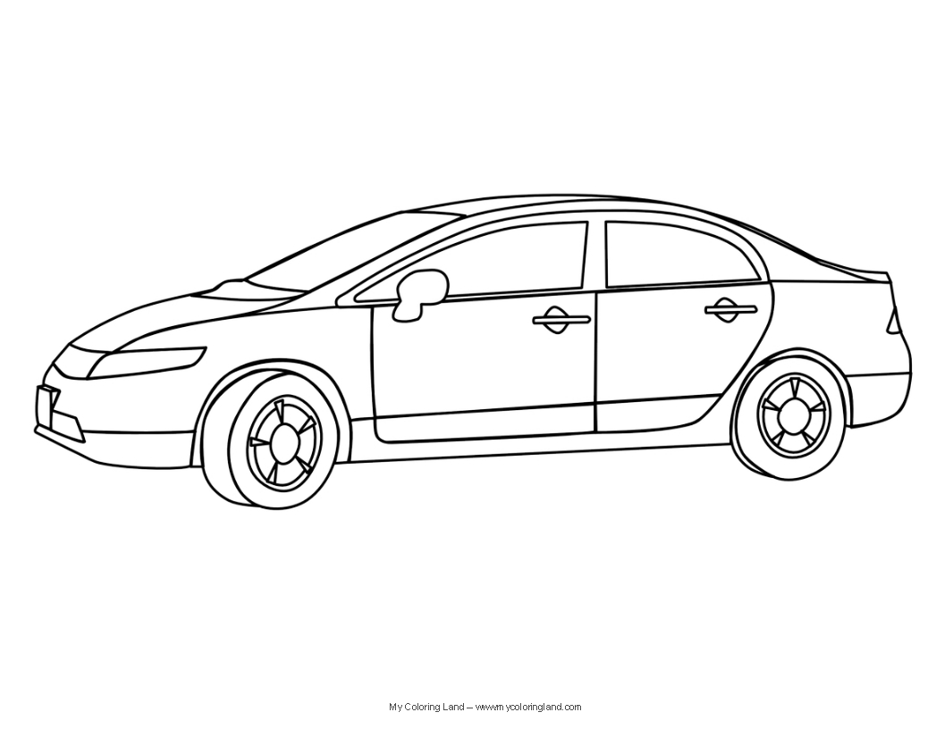 Free Coloring Pages Of A Car : Cars my coloring land