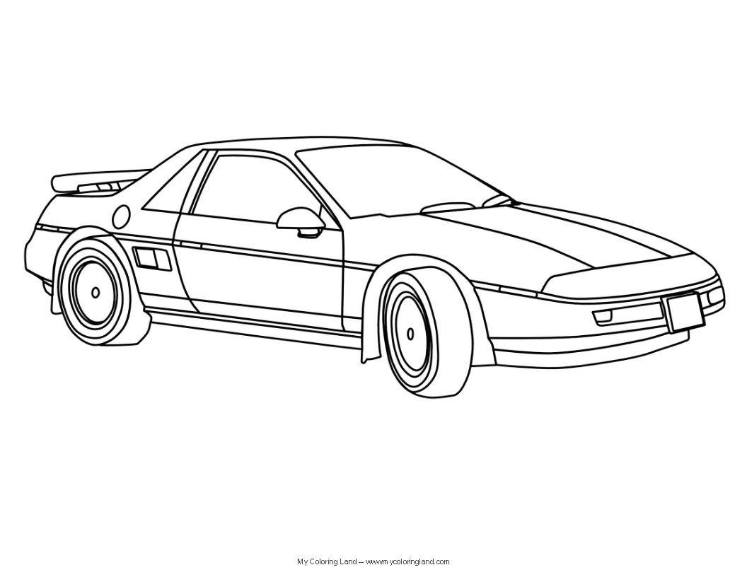 Antique cars coloring pages - Cars Coloring Pages