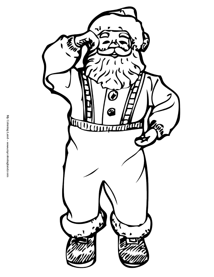 Pictures for coloring santas of the world - Merry Christmas With Coloring Pages