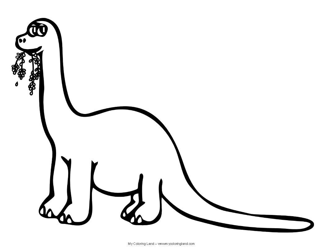 brontosaurus coloring pages - photo#18