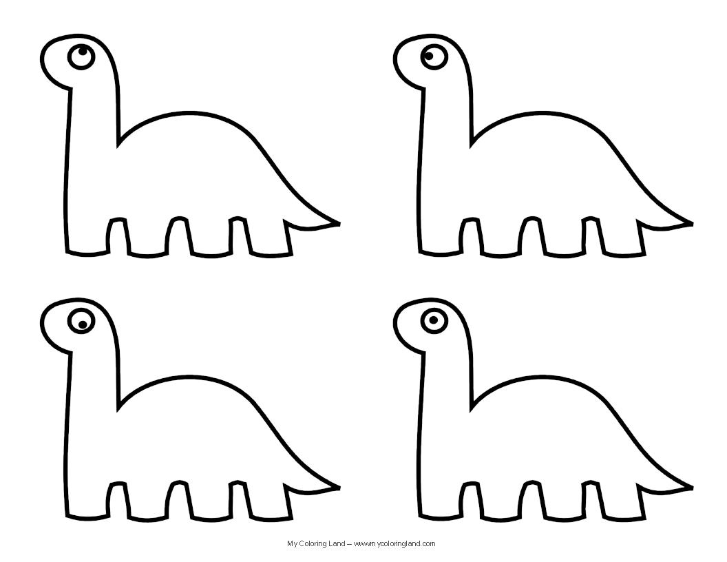 cute dinosaur coloring - My Color Book Printable