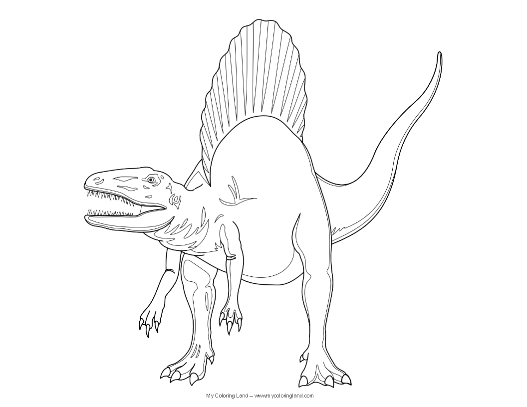 dinosaurs coloring pages spinosaurus kids activities