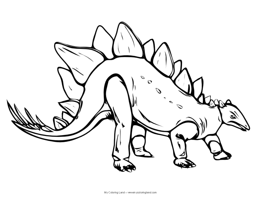 dinosaur my coloring land - My Color Book Printable
