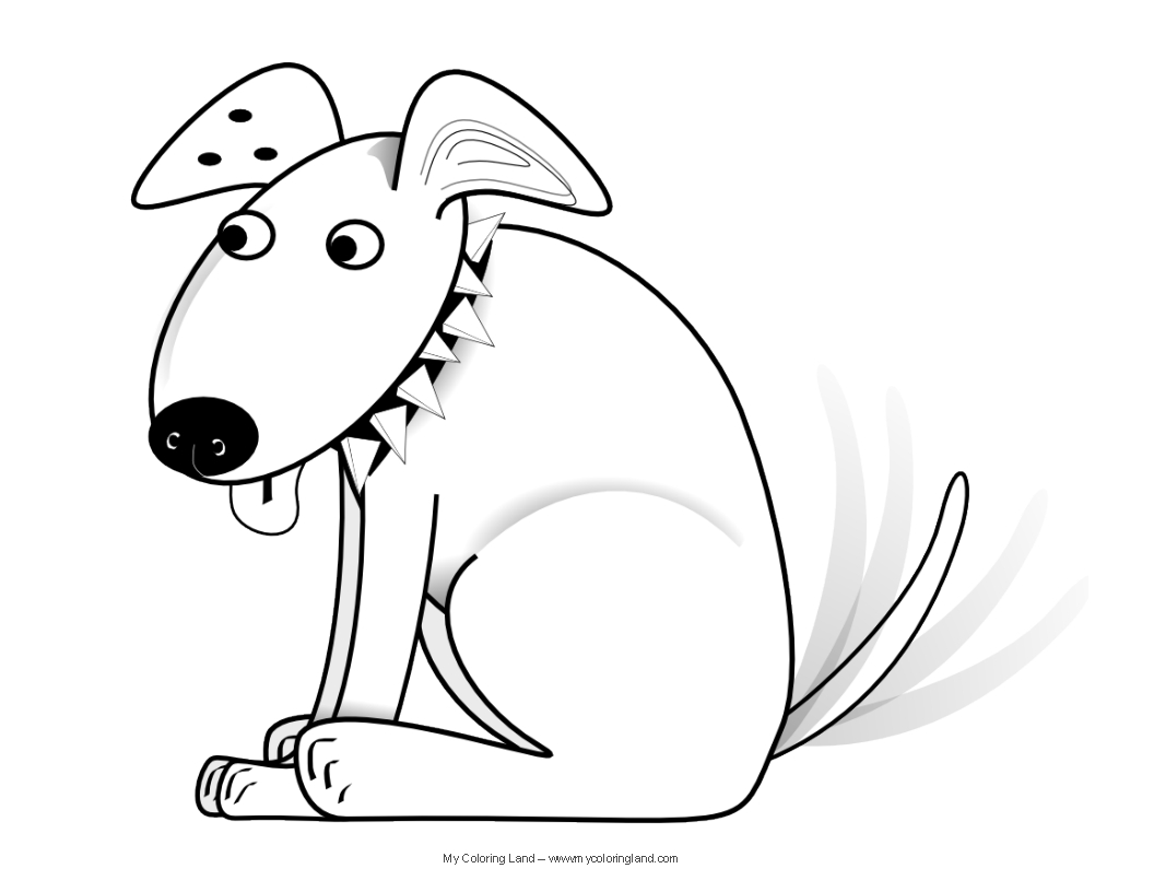Free Coloring Pages Of Realistic Dog Breeds