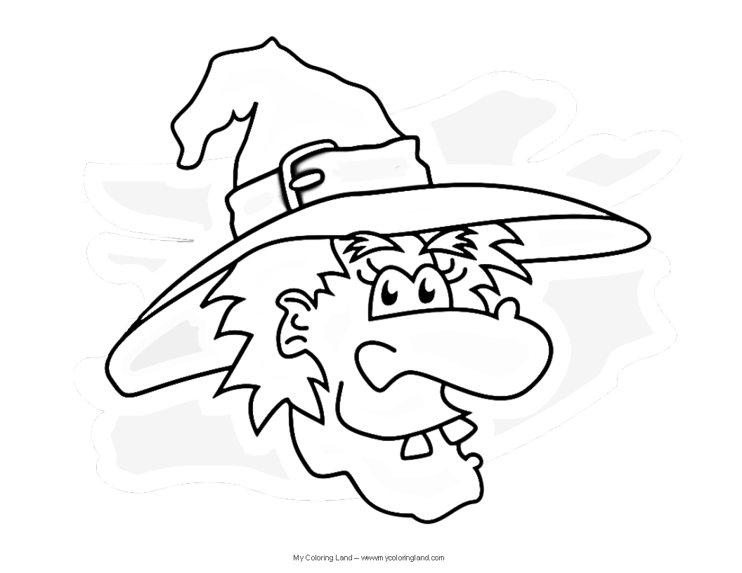 simple witch coloring pages - photo #14