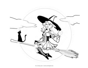 witch-coloring-page