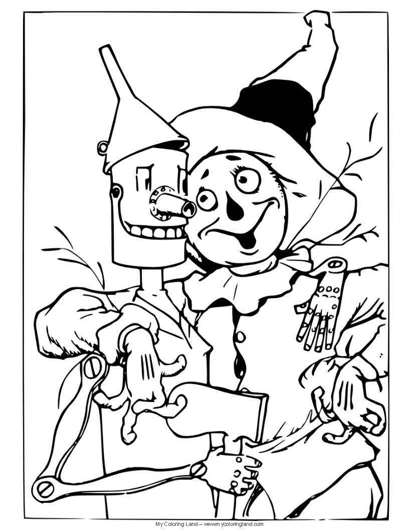 Simple Wizard Coloring Coloring Pages