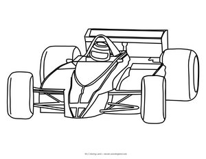 printable racing cars coloring page