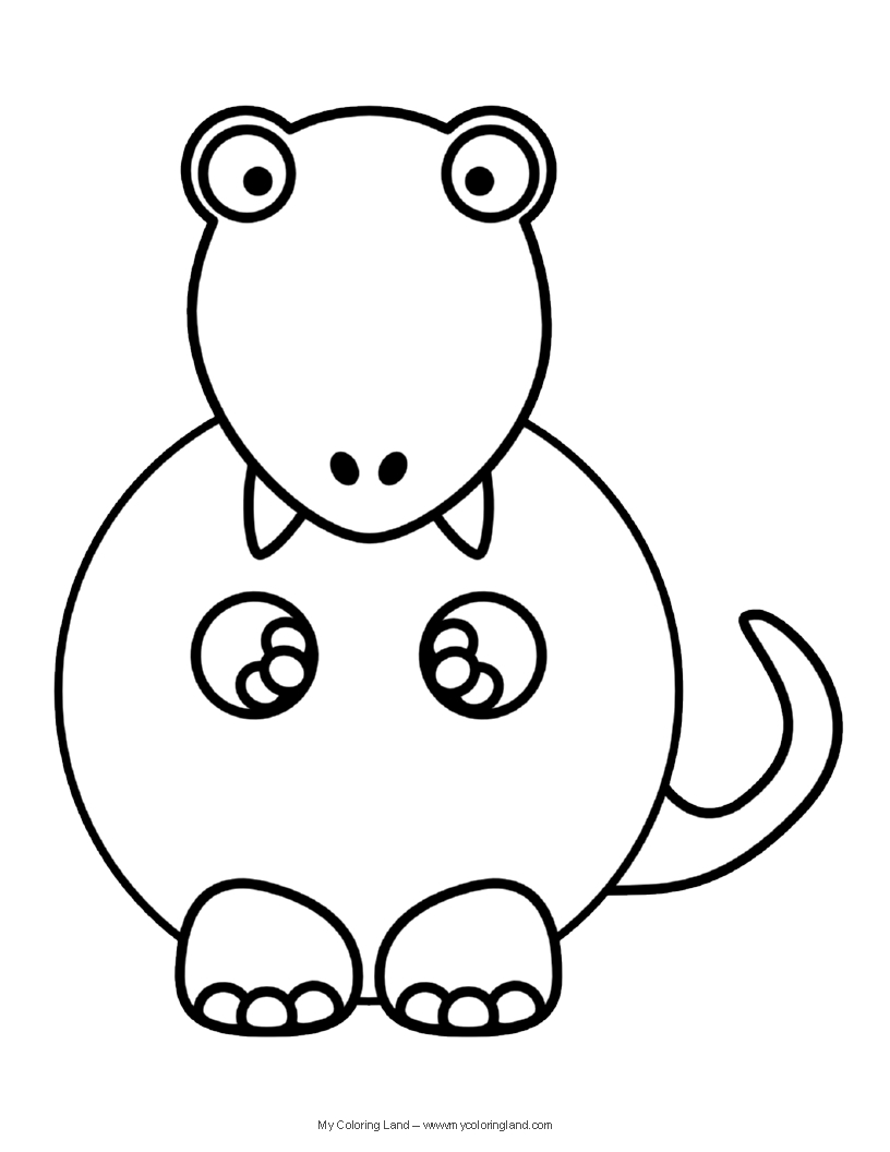 Cute Dinosaur - My Coloring Land