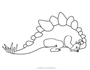 stegosaurus sleeping
