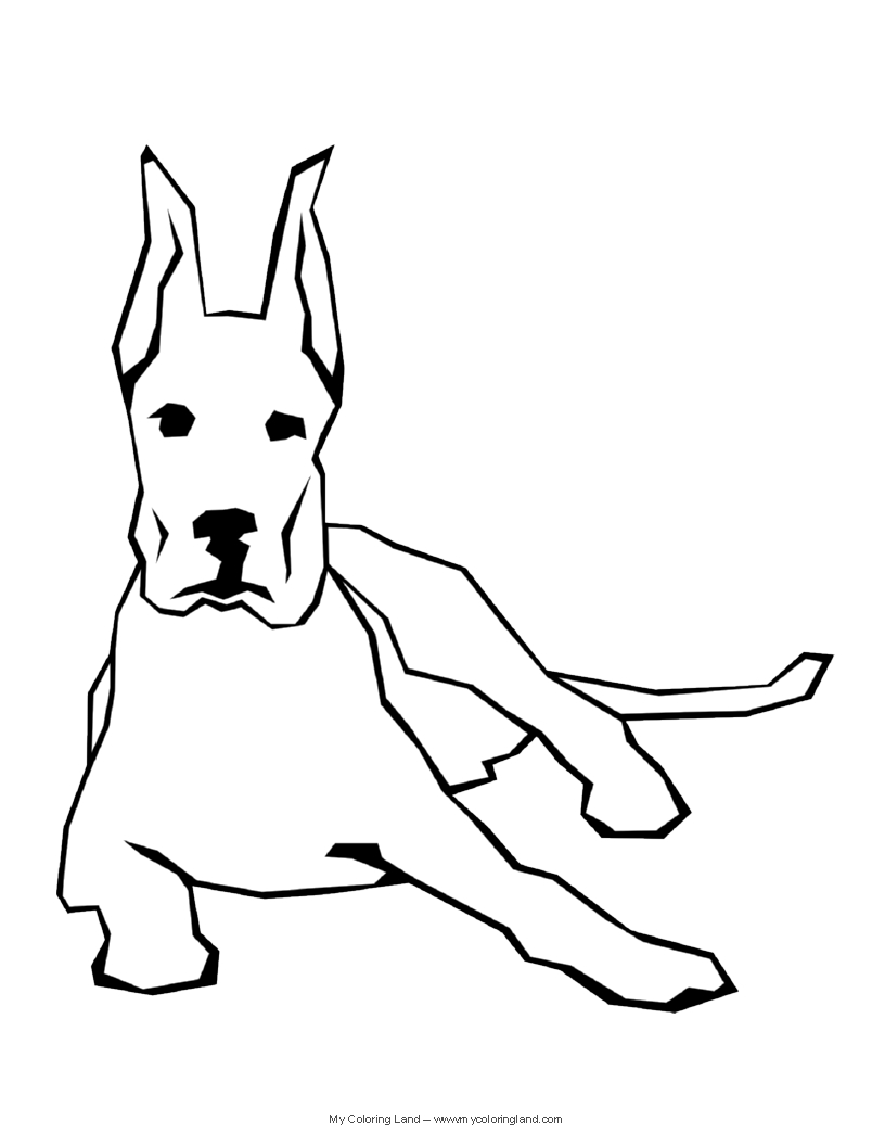 Christmas Dog Colouring Pages Free