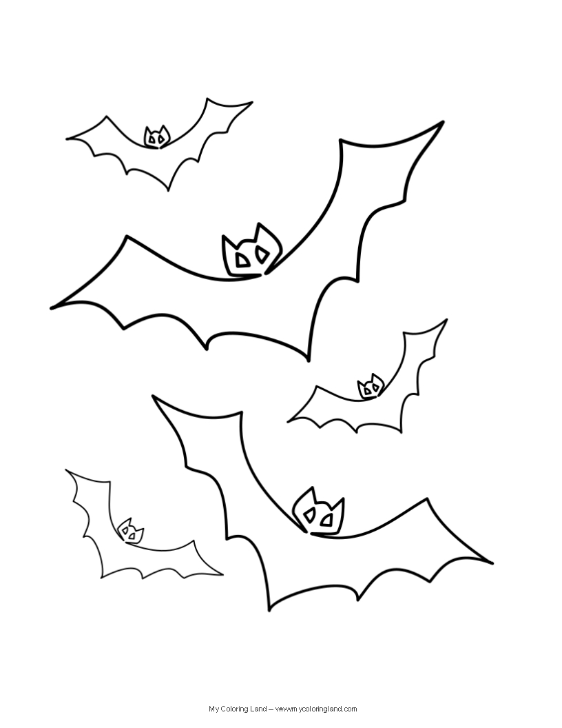 Halloween my coloring land for Halloween coloring pages bats