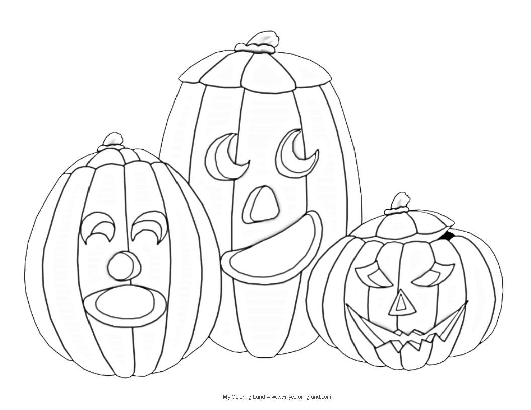 coloring pages pumpkins and ghosts - photo#29