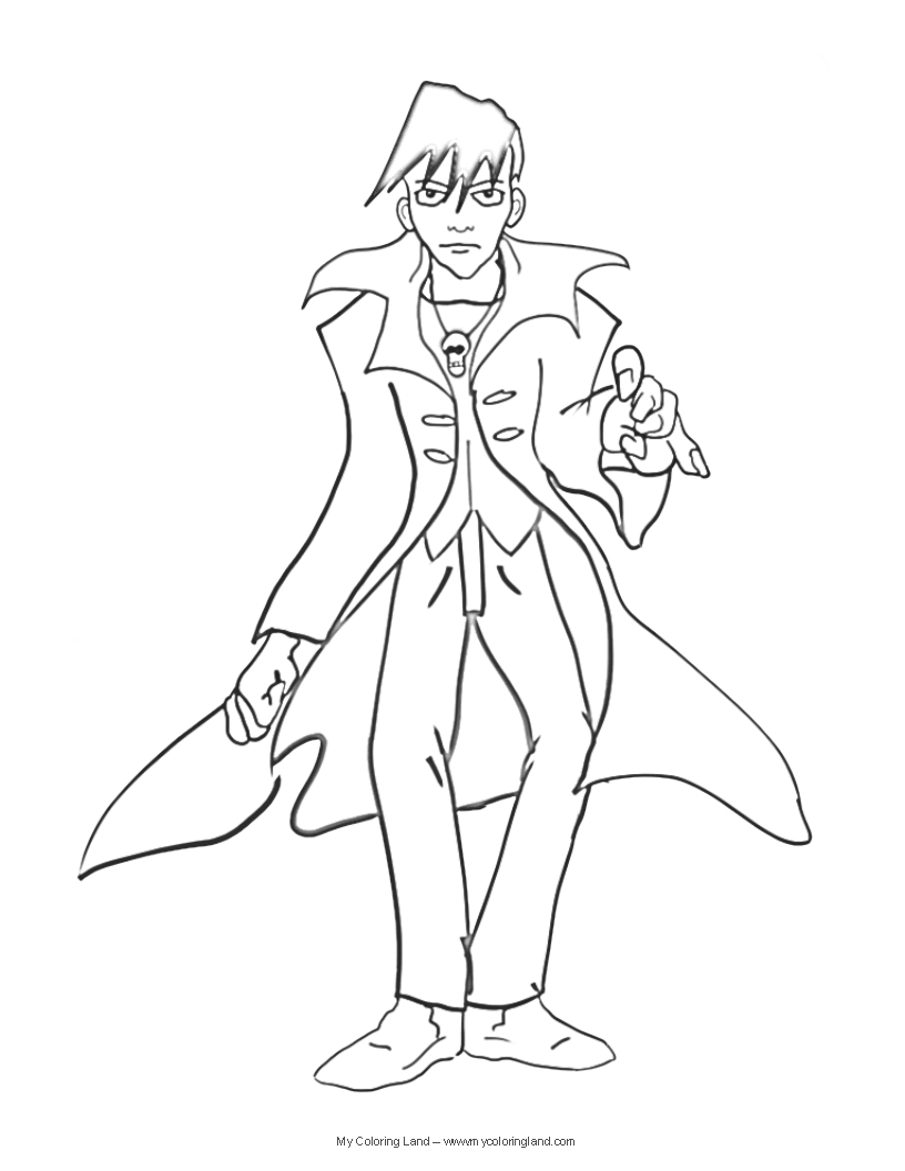 halloween vampire coloring pages - photo#34